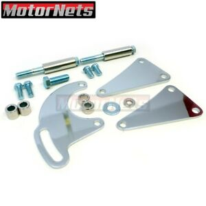 Chrome Power Steering Pump Bracket Saginaw Bbc Big Block Chevy Long Water Pump