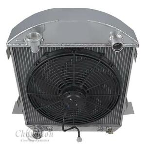 2 Row Racing Champion Radiator W 16 Fan For 1917 1927 Ford Model T Ford Config