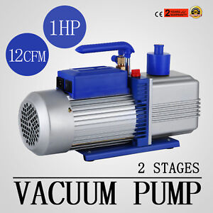 12cfm 2 Stages 1hp Refrigerant Vacuum Pump Deep Hvac Air Condition 110v 50hz
