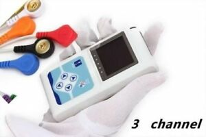 Us Tlc9803 Dynamic 24h Holter Ecg System 3 channel Ecg Recorder Sync Pc Software
