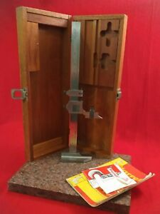 Starrett Model 454 Vernier Height Gage 12 In Original Box