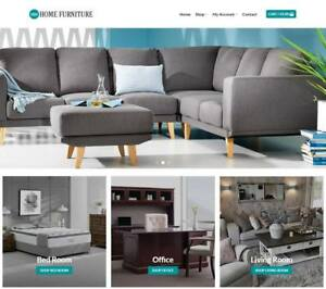 Home Furniture Website Business Earn 958 A Sale Instant Traffic domain