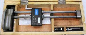 Fowler Twin Beam Electronic Height Gage 54 174 212 0 12 With Wood Box