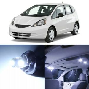 8 X Xenon White Interior Led Lights Package For 2007 2014 Honda Fit Fit Tool