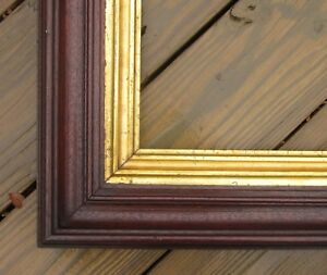 C1860 Excellent Large American Deepwell Walnut Antique Victorian 19 X 26 Frame