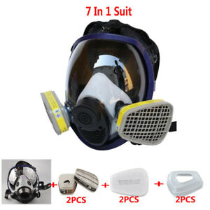Double Use Painting Spray Safety For 6800 Full Face Gas Mask Respirator 40mm
