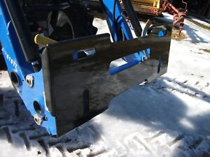 New Quick Attach Mount Plate For New Holland Powder Coated Black
