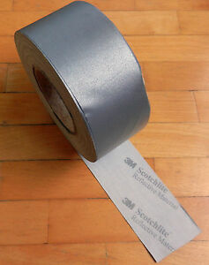 Scotchlite 3m Reflective Sew On Tape 50 Yards Roll 2 55 Or 65mm W Silver