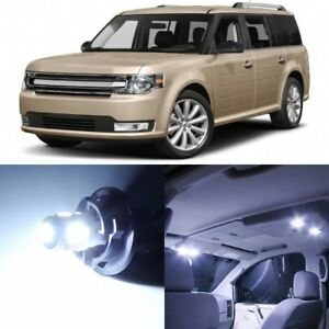 13 X Xenon White Interior Led Lights Package For 2009 2017 Ford Flex Tool