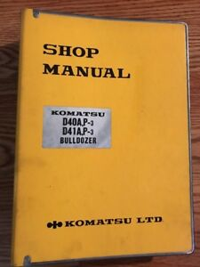 Komatsu D40 D41a P 3 Service Shop Repair Manual Tractor Bulldozer