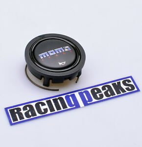 Momo Black Steering Wheel Horn Button Sport Competition Tuning Fits Sparco Omp