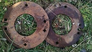 John Deere farmall oliver Rear Wheel Weights