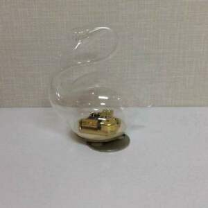 Glass Bird Music Box Japan Retro Antique Popular Beautiful Ems F S