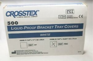 Lot Of 4 Box Of 500 Crosstex Lquid Proof Bracket Tray Covers White