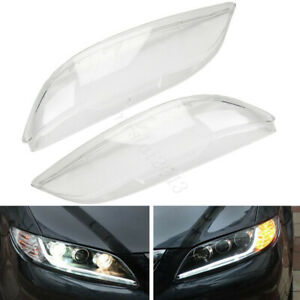 1 Pair Left Right Headlight Clear Lens Lampshade Covers For Mazda 6 2003 2008