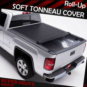 For 1997 2003 Ford F150 6 5ft Standard Bed Lock Black Roll Up Soft Tonneau Cover