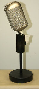 Repro Vintage Style Microphone Recording Studio Mixer Turntable 50 S Decor Audio