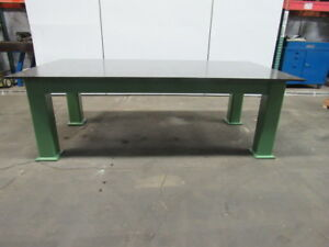 Hd Steel Fabrication Welding Layout Table Work Bench 98 x50 x32 3 4 Thick Top