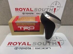 Toyota Tundra 2014 2015 2016 Trd Aluminum Leather Shift Knob Genuine Oe Oem