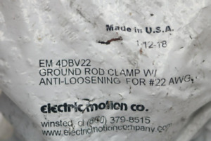Lot Of 6 Ground Rod Clamp W Anti Loosening For 22 Awg em 4dbv22