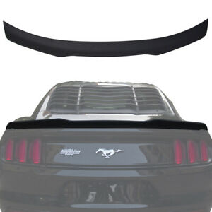 Carbon Fiber Style Car Rear Trunk Decklid Spoiler Wing For 15 17 Ford Mustang
