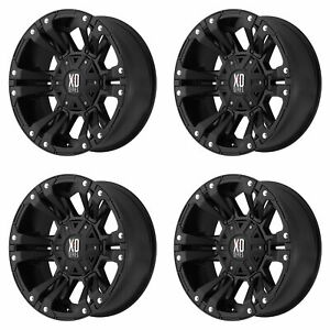 4x Xd Series 17x9 Xd822 Monster Ii Wheels Matte Black 6x5 5 6x135 6x139 7 30mm