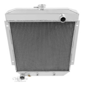 3 Row Racing Champion Radiator For 1954 1955 1956 Ford Cars