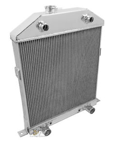 2 Row 1 Racing Champion Radiator For 1942 1948 Ford Coupe Flathead Config