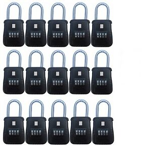 15pcs 4 Dial Metal Lock Box Key Safe Vault Door Hanger For Realtor Real Estate