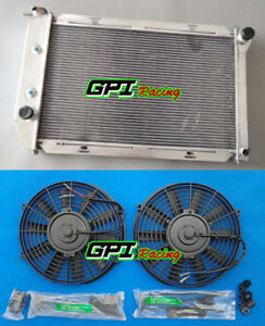 Aluminum Radiator Fans For 1969 1973 Ford Mustang Cougar Ford Cars 26 Core At