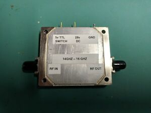 High Power Rf Microwave Gan Amplifier 14 16 Ghz 43db Gain 42dbm Sat Pout