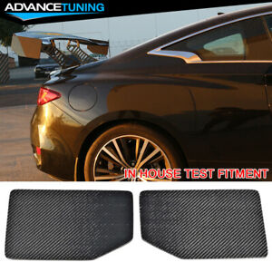 V1 Style Universal Gt Trunk Spoiler Wing Side Plate Add On Carbon Fiber Cf