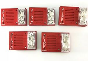 Simplex Fire Alarm Strobe Horn 4903 9217 Lot Of 5
