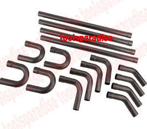 16 Pc 2 1 4 Od Long Steel Exhaust Straight Pipe Elbow U Bend Connector Mandrel