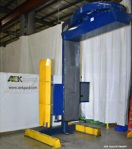 Used Lantech S 300 Straddle type Semi Automatic Stretch Wrapper Capable Of Spe