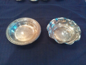 Vintage Reed Barton Silverplate Candy Nut Dish 1201 And Scalloped 115