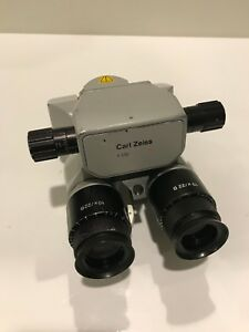Zeiss Opmi Surgical Microscope 0 180 Binoculars F 170 T With 10 5 X Eyepieces