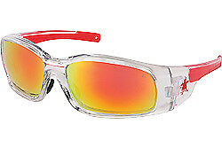 Crews Sr14r Swagger Safety Glasses Clear Frame W fire Mirror Lens 12 Pair