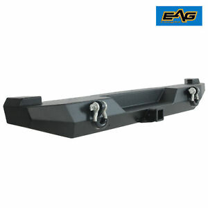 Rear Bumper W 2 Receiver Hitch D ring Shackle For 1983 2001 Jeep Cherokee Xj