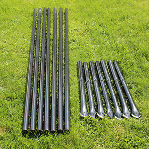 Steel Fence Posts Galvanized Black Pvc Coated 7 pack For 4 5 Animal Fencing