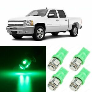 13 X Green Interior Map Led Lights Package For 2007 2013 Chevy Silverado Tool
