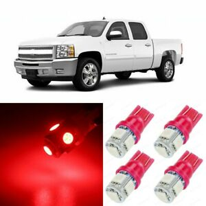 13 X Ultra Red Interior Led Lights Package For 2007 2013 Chevy Silverado tool