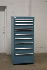 Used Lista 10 Drawer Cabinet 66 Tall Industrial Tool Box Storage 176 Vidmar