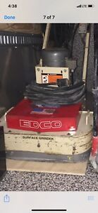 Edco Surface Grinder And Vacum