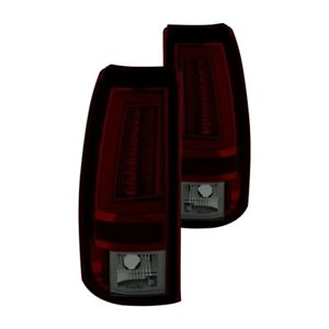 New Set Of 2 Red Smoke Led Tube Tail Lights For Chevy Silverado Truck 03 06 Pair