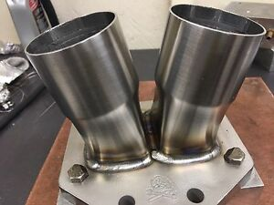 Borg Warner T6 Turbo Flange And Collector Stainless Steel W support Tab 2 5