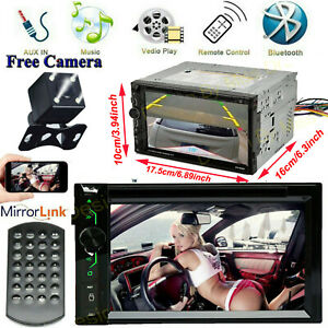 For Toyota Fj Cruiser Yaris Matrix Car Bluetooth Stereo 2din Cd Dvd Radio camera