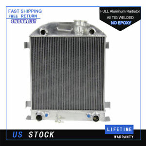 4 Row Aluminum Radiator For Ford Model A 3 3l L4 W Flathead Engine 1928 1929