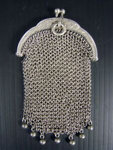 Solid Sterling Silver Mesh Purse W 0 88 Onces