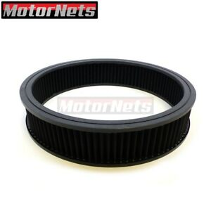 14 x3 Black Round Air Cleaner Washable Filter Reusable Element Sbc Bbc Hot Rod